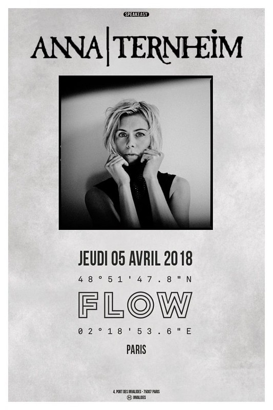 Anna Ternheim @Flow, Paris 05/04/2018