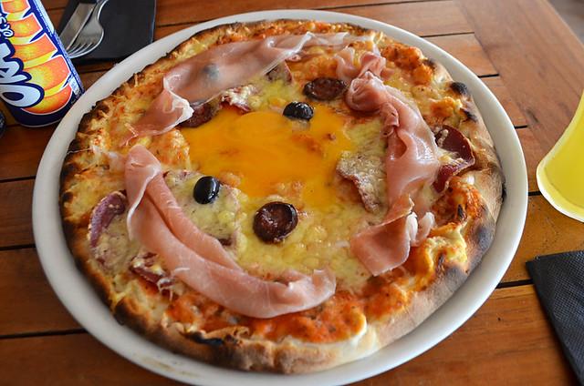 Corsican pizza, Saint Florent, Corsica