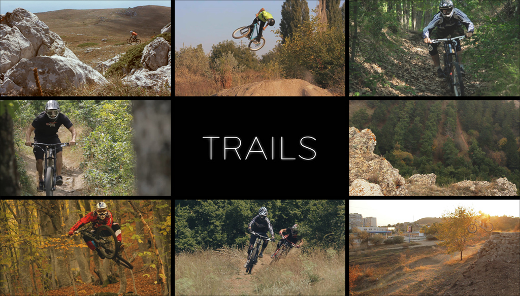 trails collage black