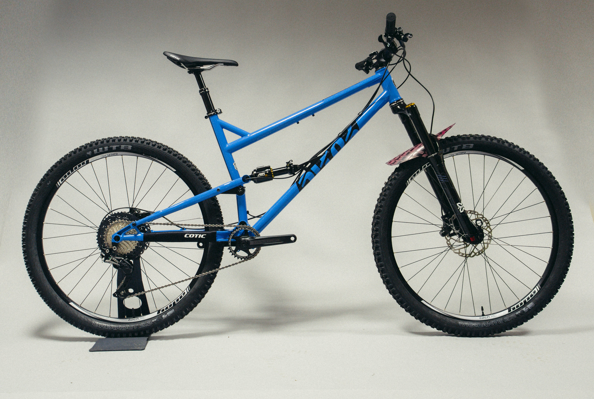 Cotic FlareMAX, Blue/Magenta, Reynolds 853, steel full suspension