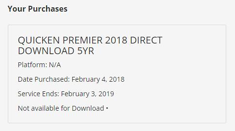 Quicken Premier 5-year subscription $0 (free) on quicken