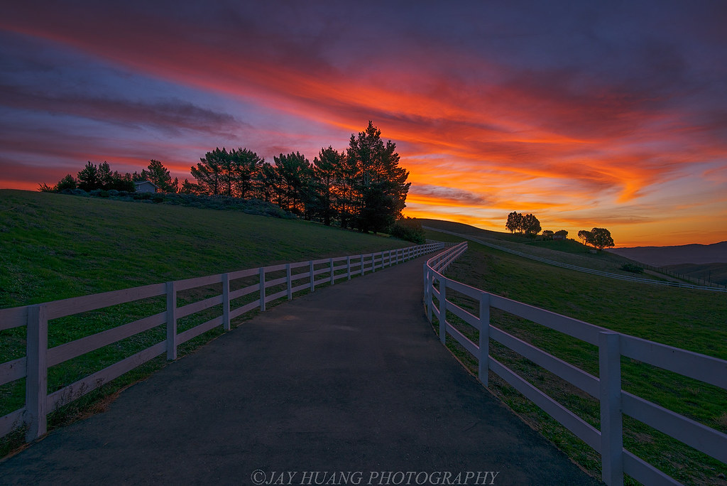 Morning Farm Sunrise At San Ramon Valley Predicted By