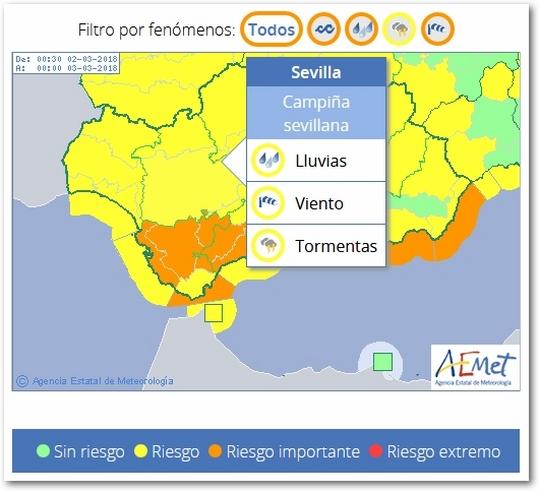 Avisos Meteorológicos Y Fema Sevilla Viernes 2 De Marzo 2018 El