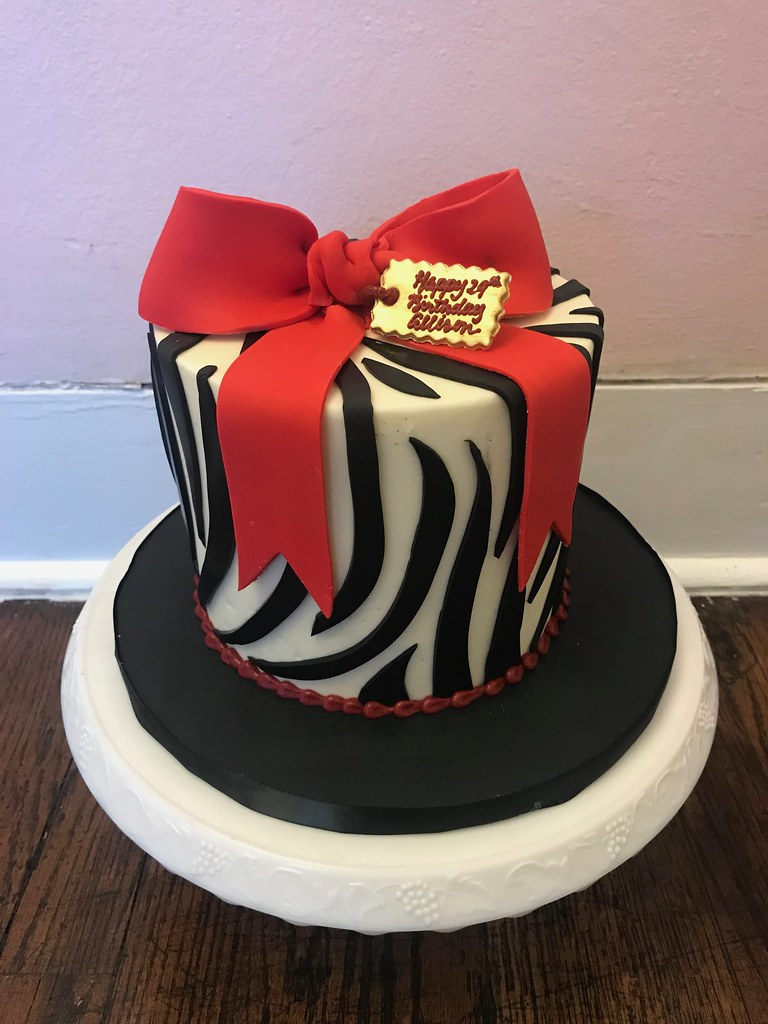 Black And Red Birthday Cake Polkadotsbakery Polkadots Olga Flickr