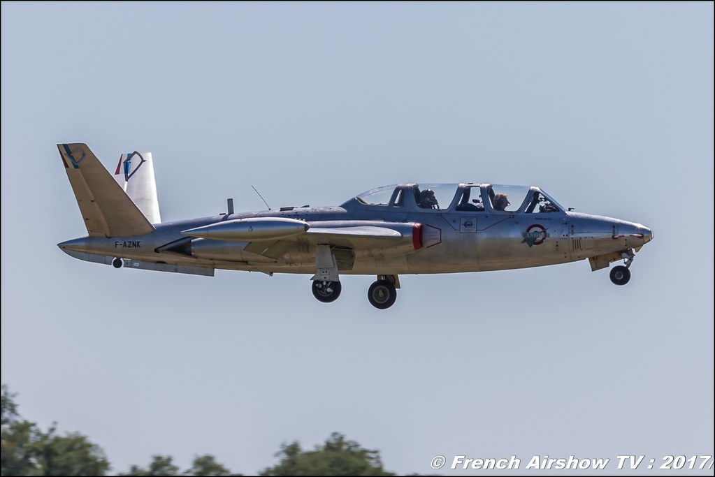 Fouga CM-170 Magister - F-AZNK , Fly in LFBK 2017 , Fly-in Saint-Yan 2017 , Meeting Aerien 2017
