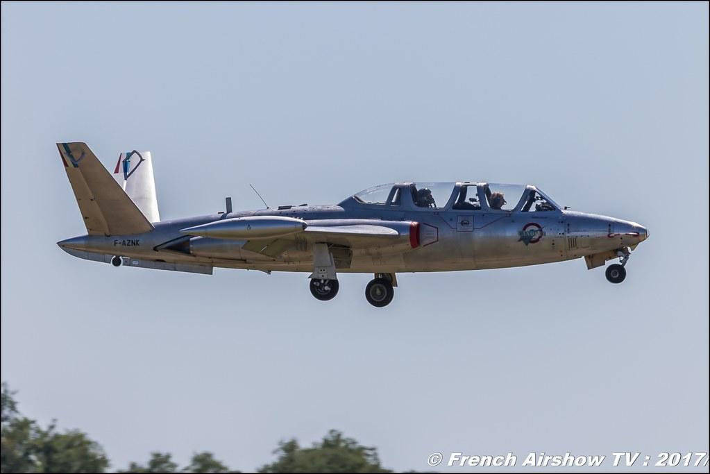 Fouga CM-170 Magister - F-AZNK , Fly in LFBK 2017 , Fly-in Saint-Yan 2017 , Meeting Aerien 2017