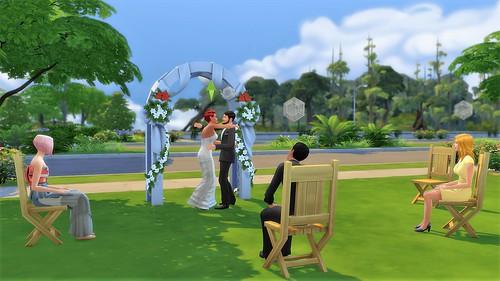 Mod que faz os sims se sentarem em casamentos