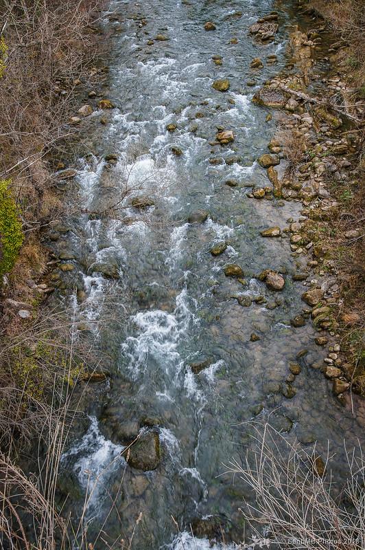 Río Llobregat desde el puente de la Vía Verde