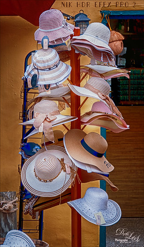 Image of Hat Rack in St. Augustine using NIK HDR Efex Pro 2