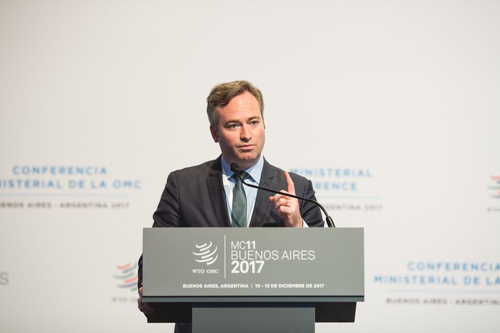 法國外交部長萊莫因(Jean-Baptiste Lemoyne)。圖片來源:World Trade Organization(CC BY-SA 2.0)