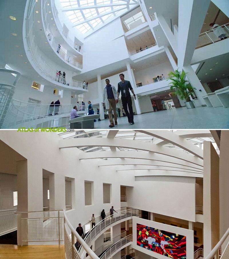 The hospital interior hall