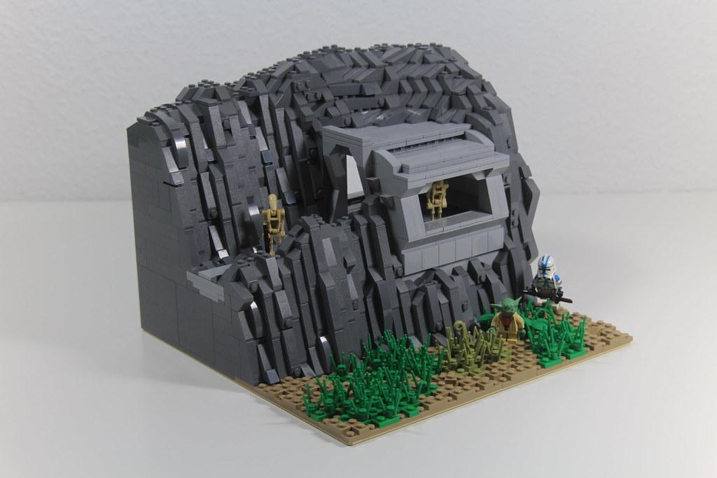 Lego star wars droid mountain base on murkhana moc flickr - Lego star wars base droide ...