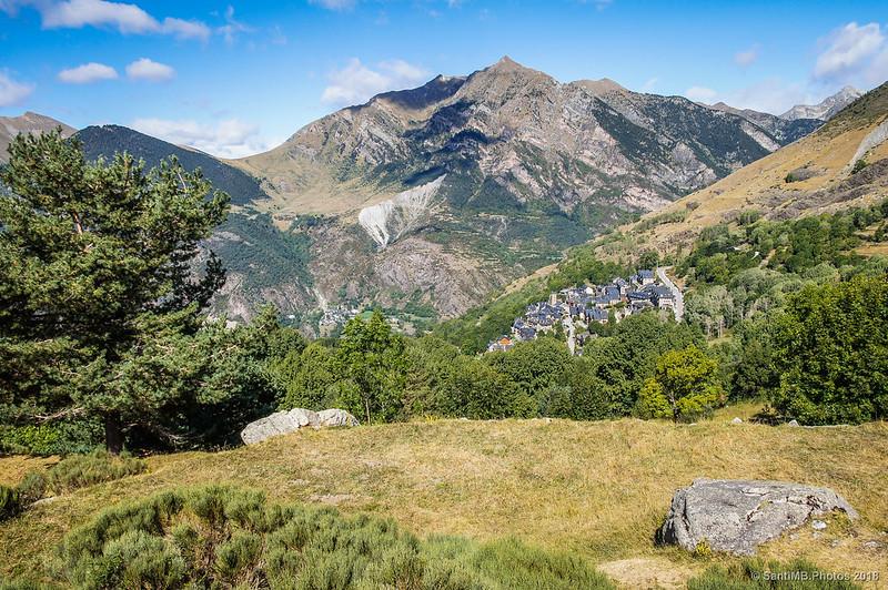 L'Aüt, Taüll y Erill la Vall desde el mirador del Pla de l'Ermita