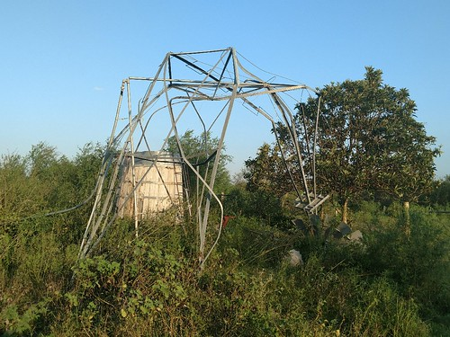 A damaged windmill