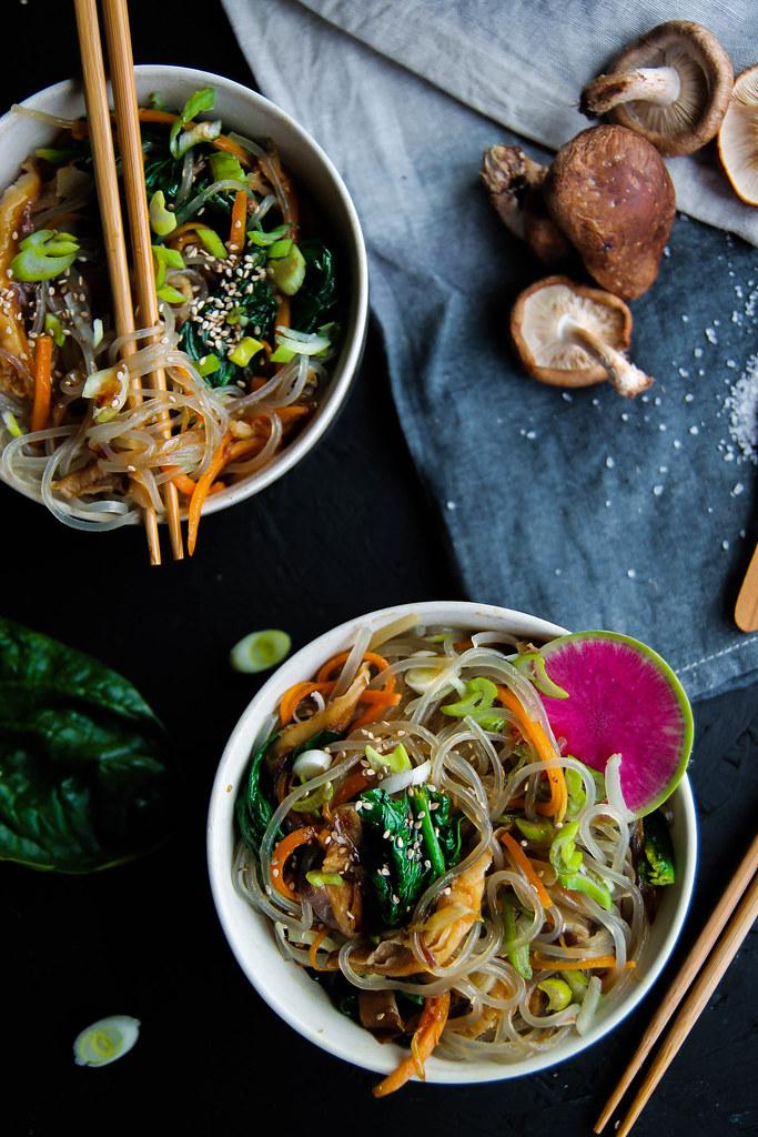 Nouilles sautées aux légumes recette