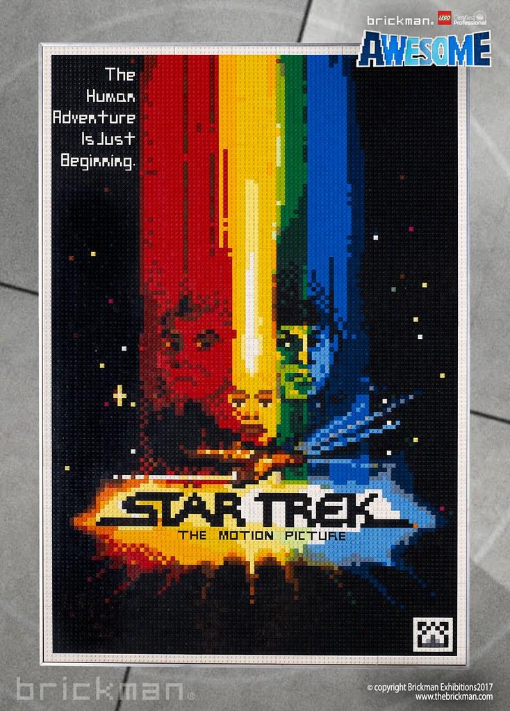LEGOR Brick Star Trek The Motion Picture Movie Poster