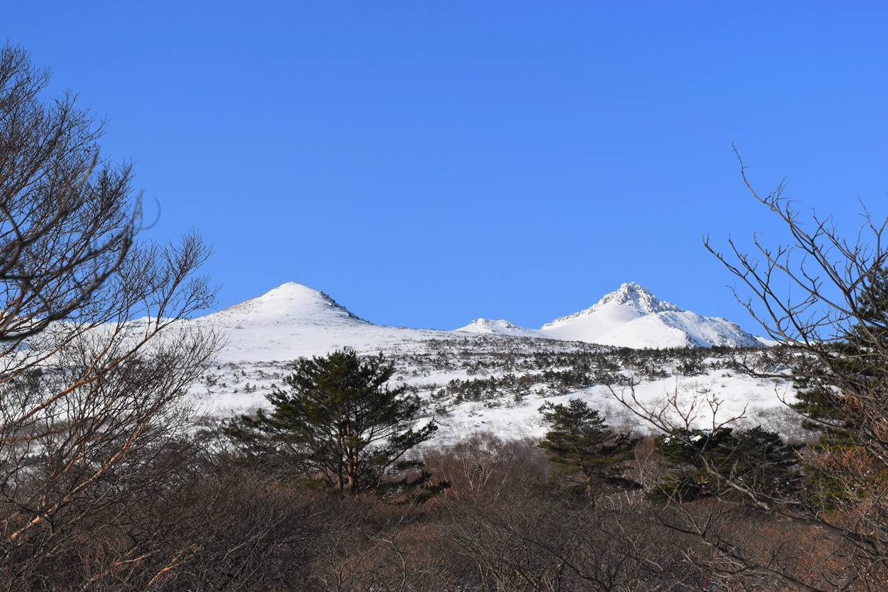 冬の安達太良山 山頂の乳首