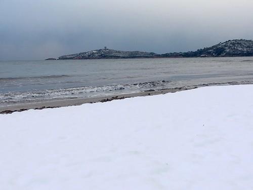 La plage avec la tour de Pinareddu