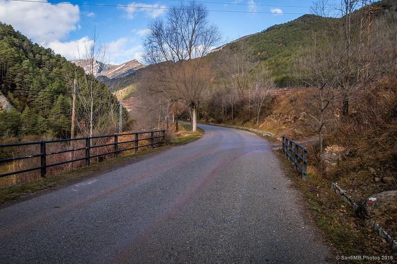 Carretera de Bagà a Gisclareny