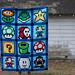 Super Mario Pixel Quilt Finish
