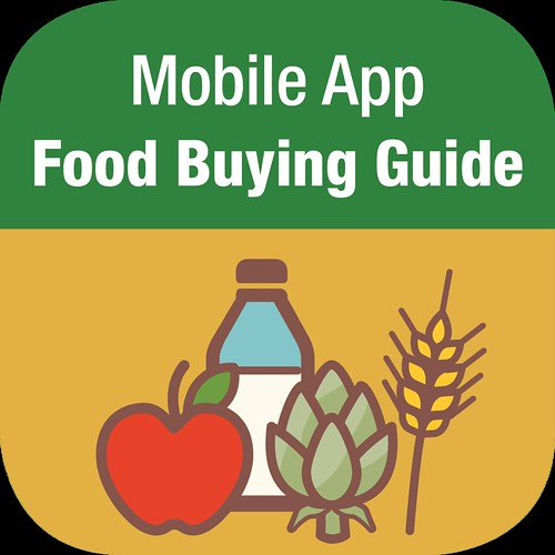 Mobile App Food Buying Guide graphic