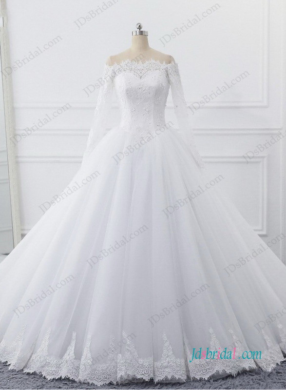 H0993-fairytale-off-shoulder-long-sleeved-tulle-princess-w…   Flickr