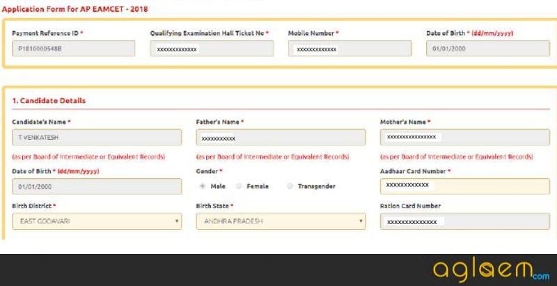 AP EAMCET 2018 Application Form (Released) - Apply Online Here