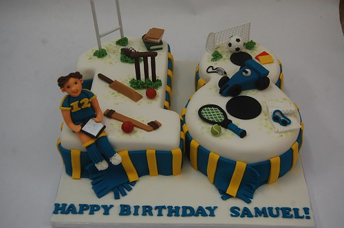 Charlie\u0027s Sporty 18th Cake \u2013 Beautiful Birthday Cakes