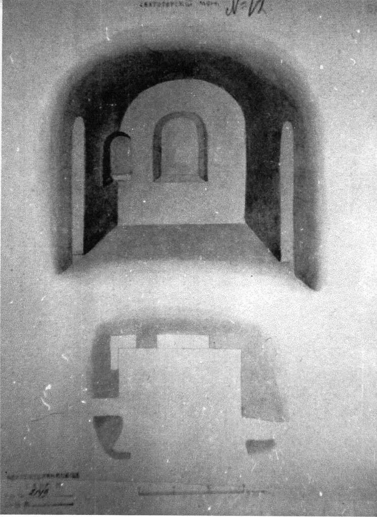 Алтарь Антоние-Феодосиевского храма. Рисунок Струкова кон. ХІХв.