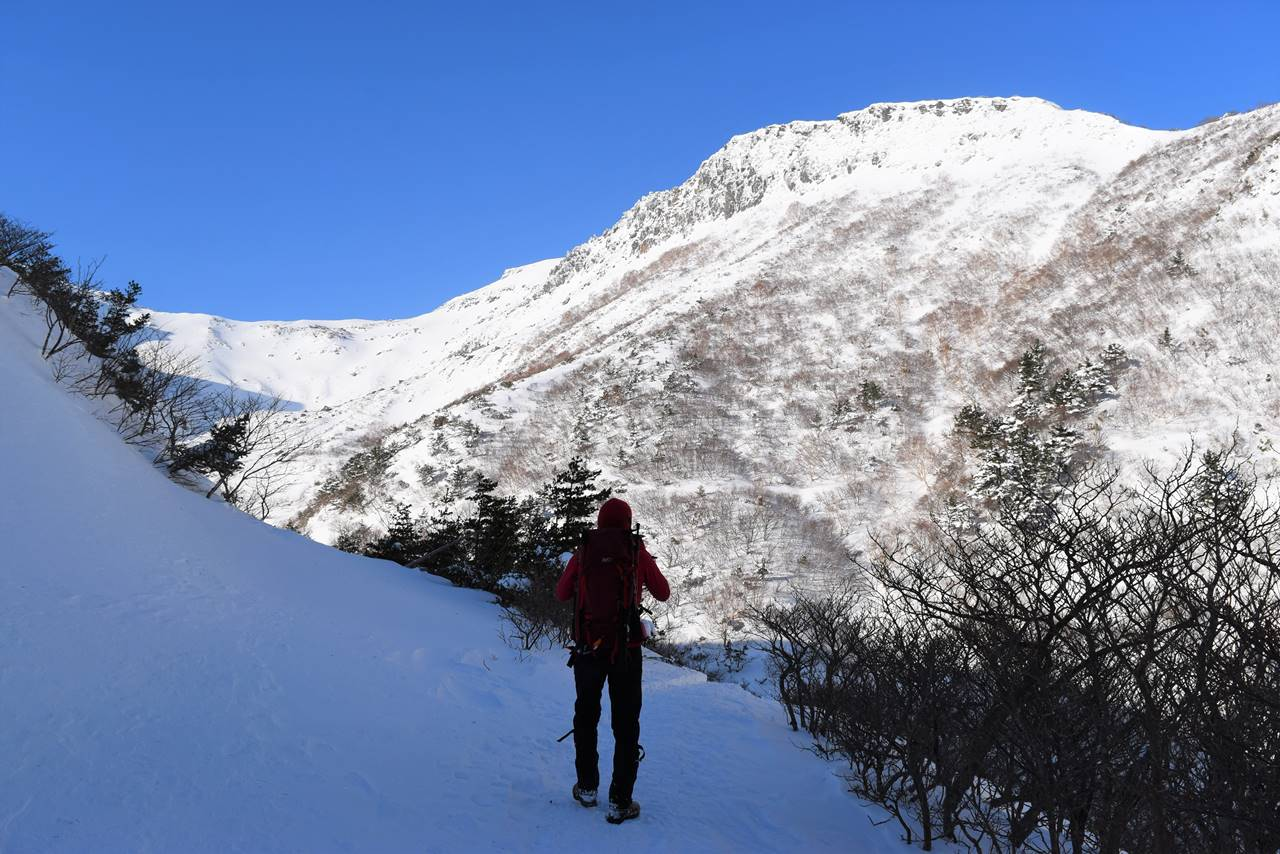 冬の安達太良山・鉄山