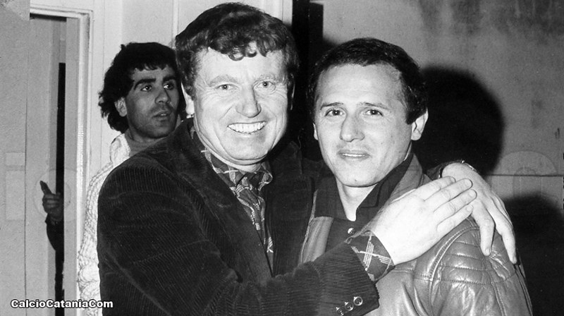 Lino De Petrillo insieme a Lorenzo Barlassina nella stagione 1979/80(Foto: Tutto il Catania minuto per minuto)