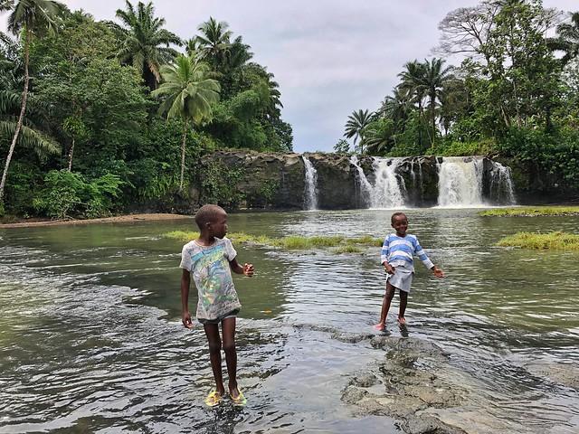 Cascada de Praia Pesqueira (Santo Tomé y Príncipe)