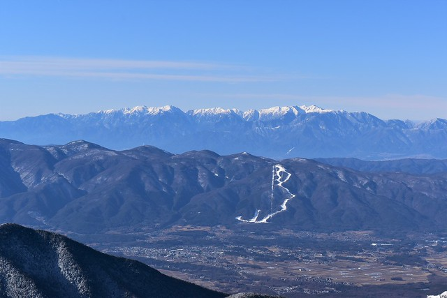 八ヶ岳から眺める中央アルプスと富士見パノラマリゾート