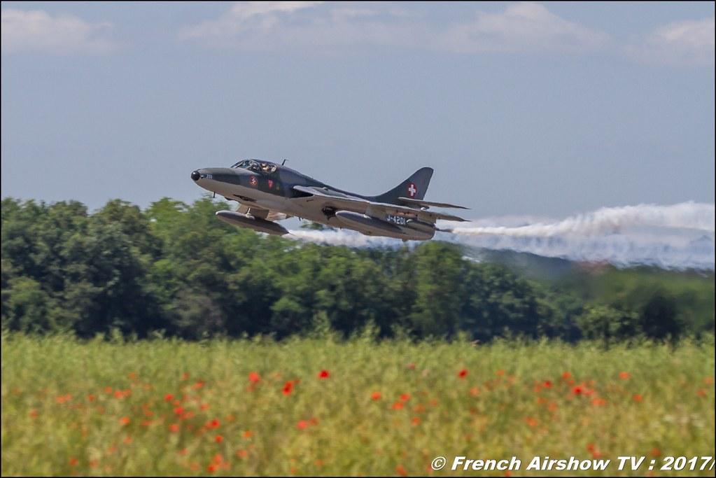 AmiciDellHunter , Hunter T.68 - J-4201 - HB-RVR , Fly in LFBK 2017 , Fly-in Saint-Yan 2017 , Meeting Aerien 2017