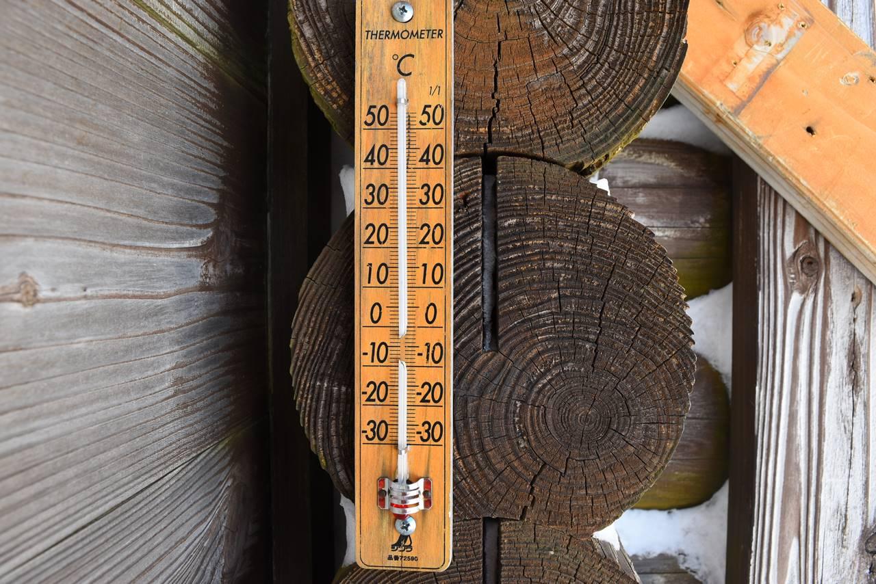 壊れた温度計