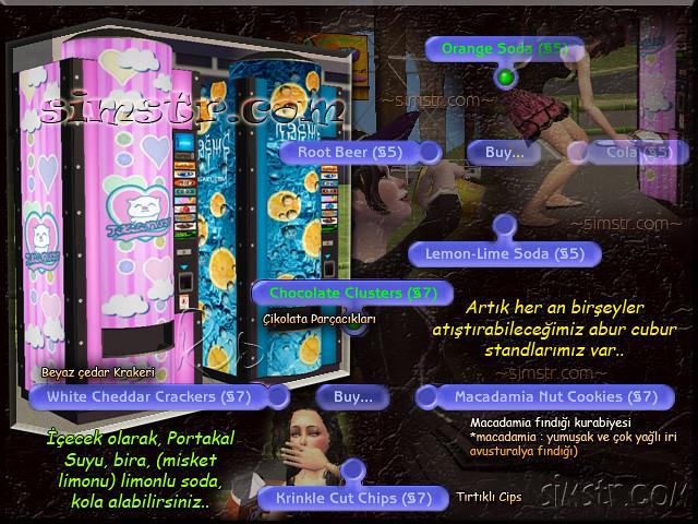 The Sims 2 Apartment Life Apartman Hayatı Stands Drink Machines İçecek Makineleri