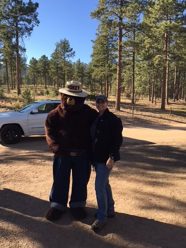 Sandra Reynolds with Smokey Bear