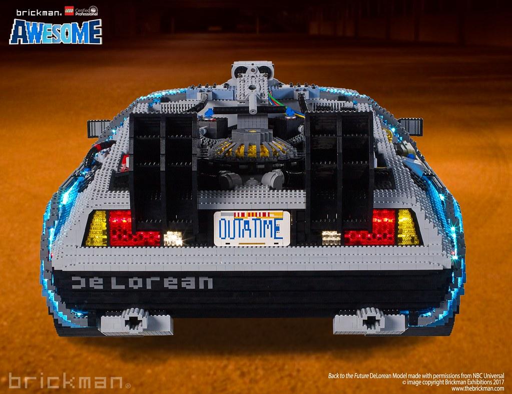 Lego 174 Brick Back To The Future Delorean Back The Rear Of