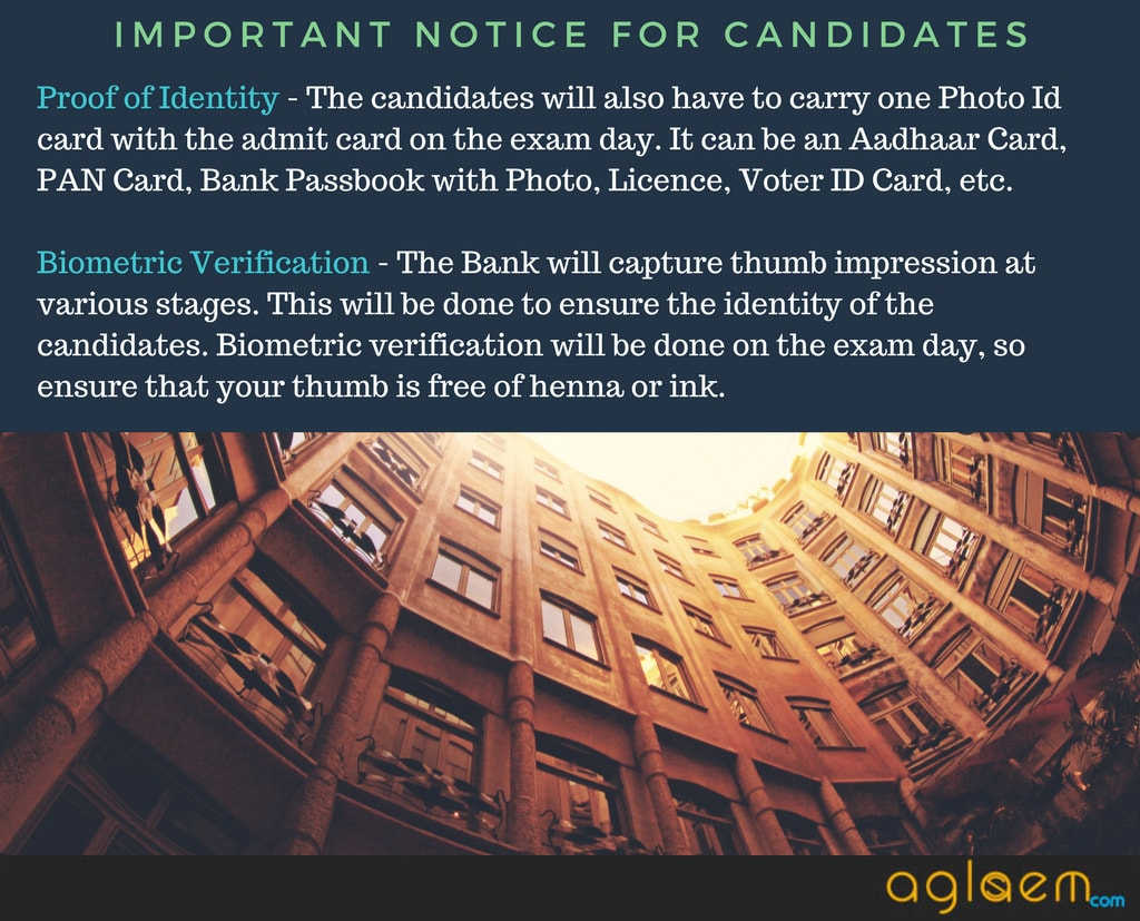 Important instructions for candidates about exam.