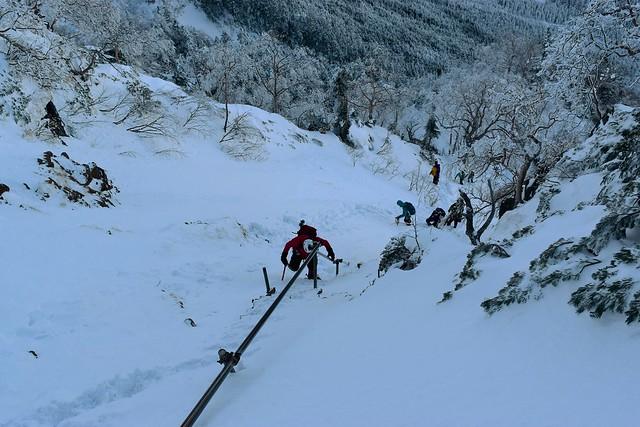 冬の八ヶ岳・地蔵尾根 雪山登山