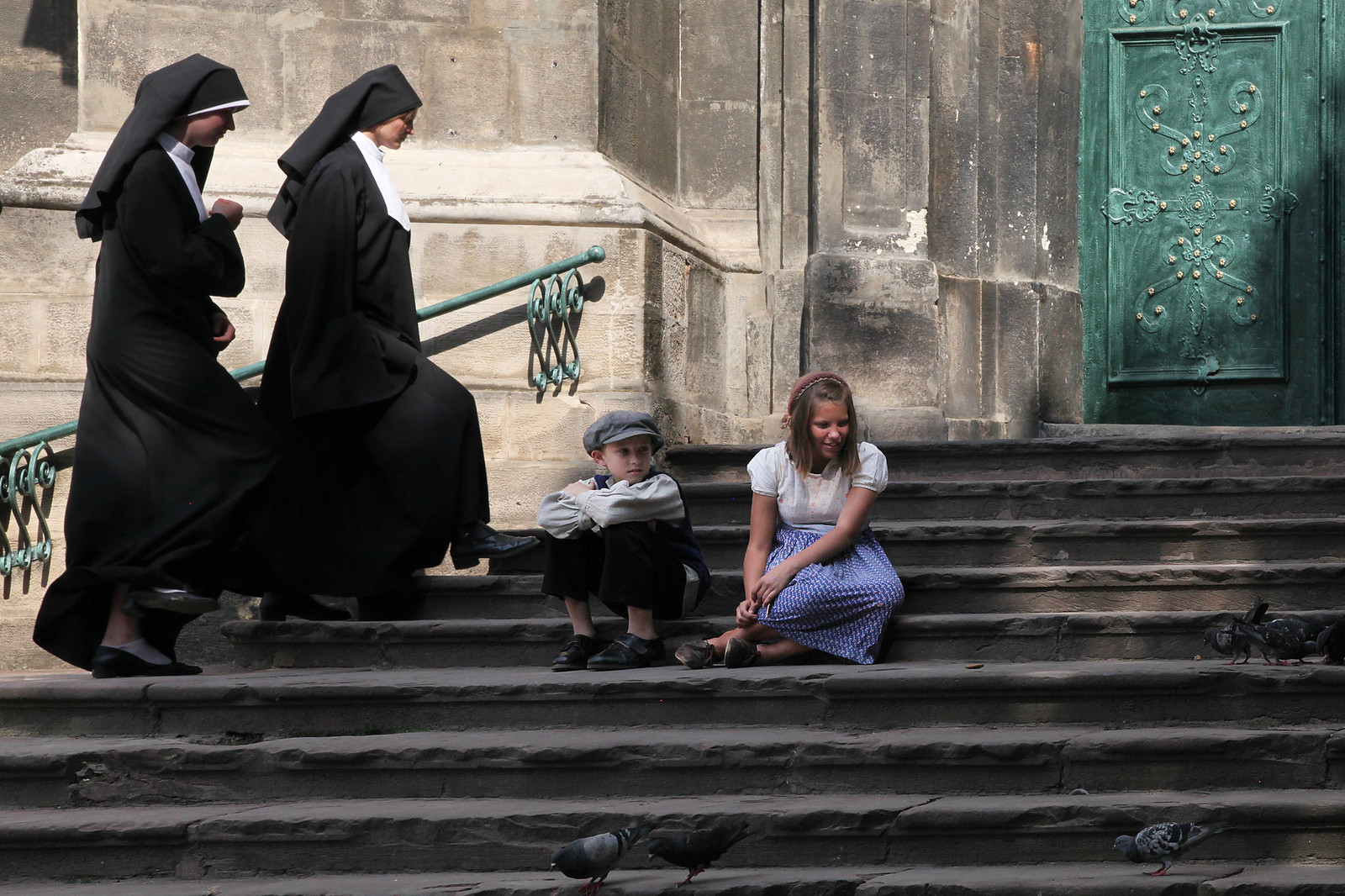 Children, nuns and pigeons. | by tetyanabunyak