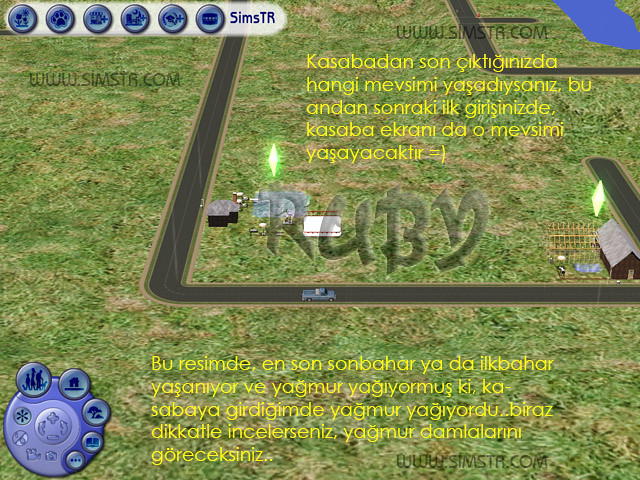 The Sims 2 Seasons Neighborhood View Kasaba Ekranı Mevsim Etkileri