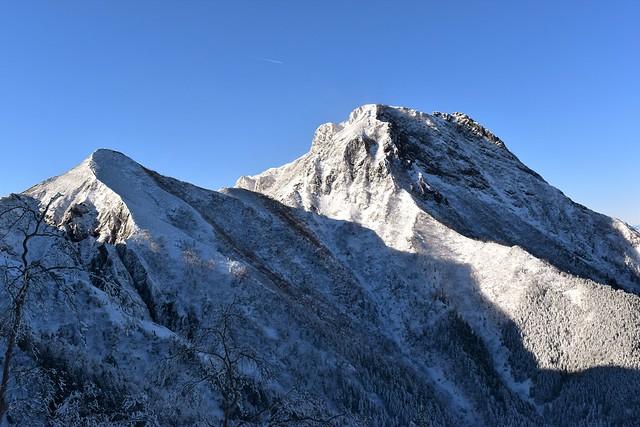 雪の阿弥陀岳~中岳