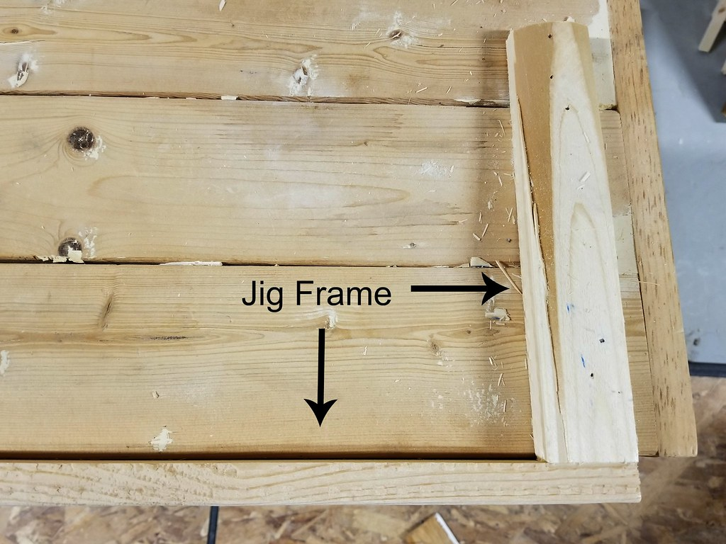 homemade jig to keep 90 degree angle