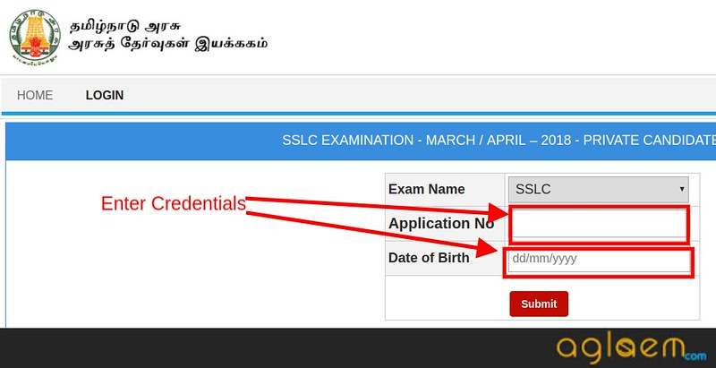 TN SSLC Hall Ticket 2018