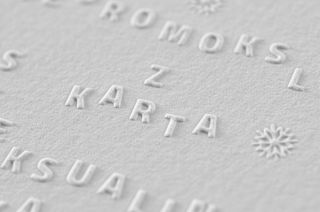 Stunning Embossed Business Christmas Cards | Check out this … | Flickr