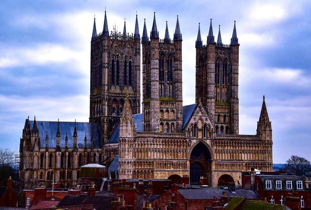 Lincoln Cathedral From The Castle Walls Lincoln Lincoln