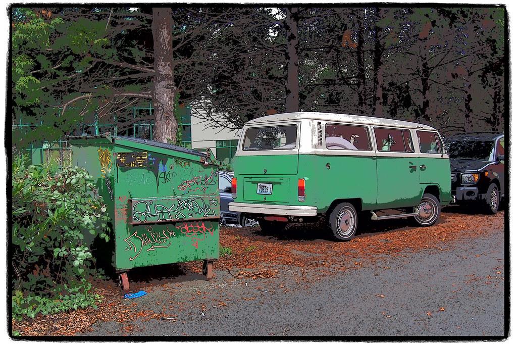 green bay volkswagen bus fremont seattle wa olympus  p flickr