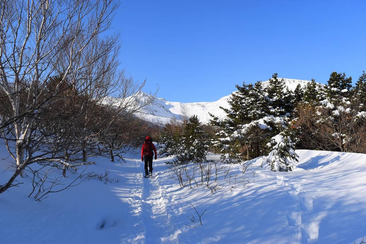冬の安達太良山 くろがね小屋へ
