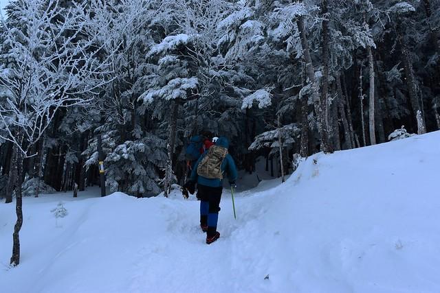 冬の赤岳登山 地蔵尾根へ